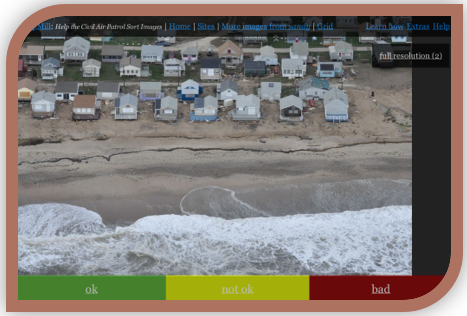 Screen-shot from the interface that annotators used to evaluate the damage.
